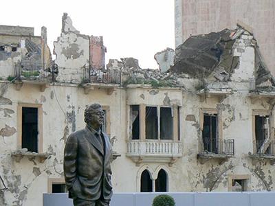 Estatua de Rafik Hariri en Beirut (2012) | © Ethel Bonet