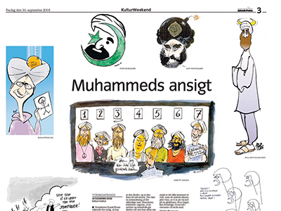 Portada del diario danés Jyllands-Posten 30 Sep 2005