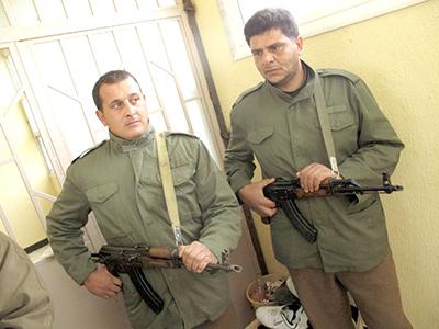 Milicianos rebeldes en Shahat, durante la guerra civil (2011) | © Daniel Iriarte