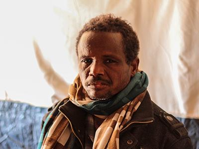Ibrahim Ishak, refugiado en Choucha | © J. Pérez De La Cruz