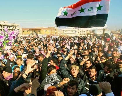 Manifestación contra la discriminación de los suníes en Mosul, 2013 | © K. Zurutuza