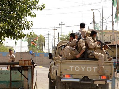 Milicianos kurdos (peshmerga) en Kirkuk (Junio 2014)  | © Laura J. Varo