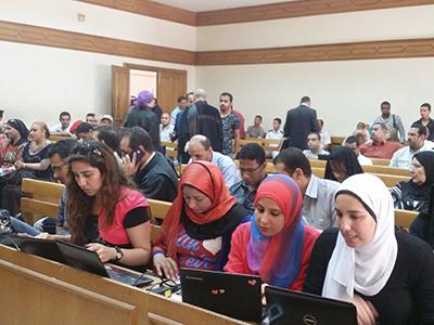 Sesión del juicio por las violaciones masivas en El Cairo (Junio 2014) | © Imane Rachidi