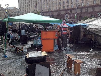 Maidán (Plaza de la Independencia) de Kiev (Mayo 2014) |  © Irene Savio