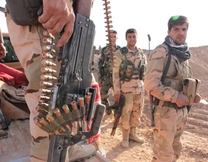 Combatientes peshmerga en el frente de Makhmur | © Daniel Iriarte / MSur