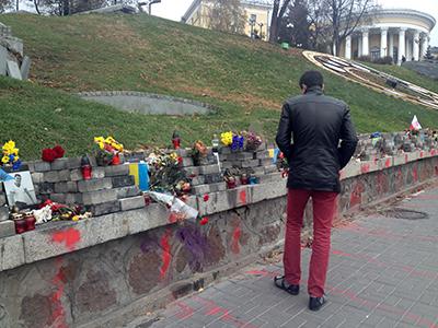 En la calle Institutskaya se recuerdan las víctimas del Maidán (Kiev, Nov 2014) | ©  Irene Savio