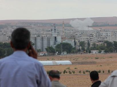 La artillería del Estado Islámico castiga Kobani | © Daniel Iriarte / MSur