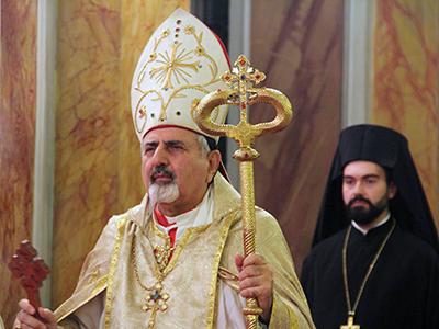El patriarca siriaco-católico Ignacio Yusuf III Yunan, con un pope ortodoxo (Estambul, 2014) | © Ilya U. Topper / M'Sur