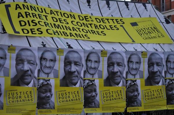Cartel a favor de los 'chibanis' en Marsella |  © Diana Mandiá