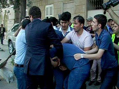 Arresto de un manifestante en Baku (Mayo 2012) | © Daniel Iriarte
