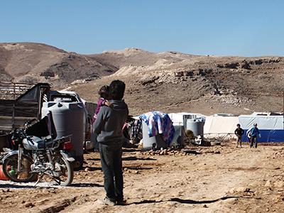 Refugiados sirios en Arsal (Líbano) en 2012   © Ethel Bonet