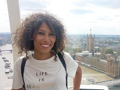 Maloma Morales, durante un viaje a Londres | Cedida