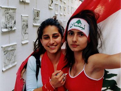 Manifestantes por la unidad de Líbano en Beirut (Abr 2005) | © Ilya U. Topper