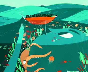 Una de las ilustraciones de 'El viaje' de Francesca Sanna.