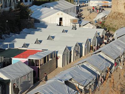 Campamento Souda en Quíos (Dic 2016) | © Javier P. De la Cruz