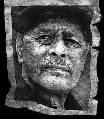 Retrato de Chukri (Portada de El hombre del pan desnudo)